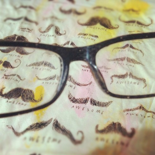 You know what's awesome? Mustaches, tshirts, glasses. And you. #awesome #mustache #glasses #pov #instagood #iphoneography #shirt #tshirt #tee (Taken with instagram)
