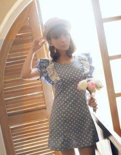 Sweet Dot and Lace Blue DressSize: S, MSMALL: Shoulder - 34cm, Bust - 80cm, Length - 76cm, Sleeve - 23cmMEDIUM: Shoulder - 36cm, Bust - 84cm, Length - 78cm, Sleeve - 25cm$50 CLICK HERE