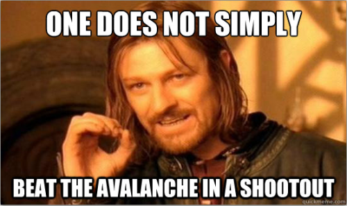 It's true. One does not.