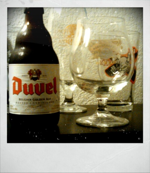Hello beautiful. Duvel and Alkaline Trio before bed