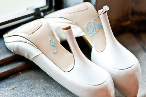 "Lovely ""I Do"" wedding shoes!"