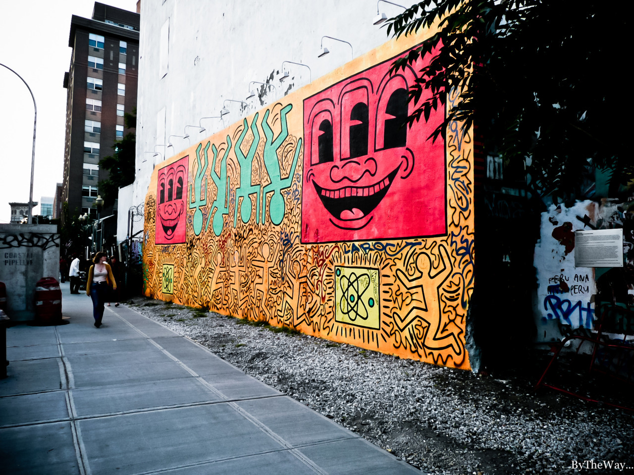 Keith Haring wall in Manhattan, New York City