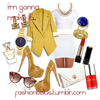 i'm gonna makie it… by fashionbellus featuring plastic sunglasses