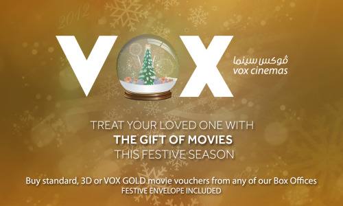 "VOX Cinemas""You mean the world to me""Adapted to cinema screens, plasma screens, main website, social media platforms and printed leaflet © Manolia D'Souza"