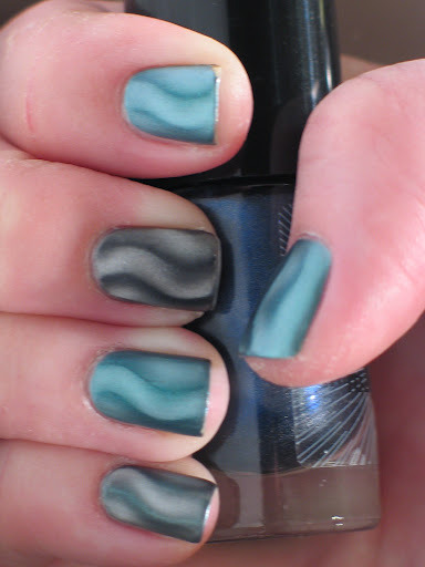 Mattified Magnetic Nail Polish try it!  looks so cool! o.O