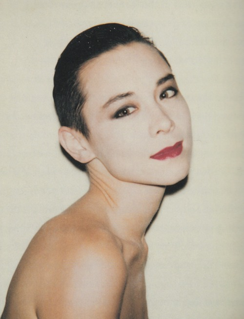 paperspots:  Tina Chow by Andy Warhol, 1985.