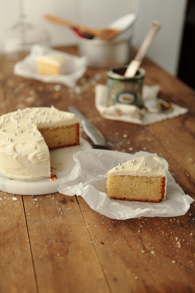 bella-illusione:  golden syrup cake