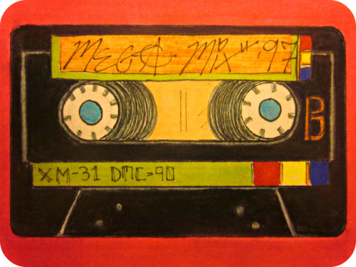 """The Old Mix Tape"", the Haiku version. Finding old mix tapesMakes you nostalgic for howLame you used to be. (To read the original prose version from 3/14/12, click here) Wanna star in your very own Daily Doodle?  CLICK HERE!FAQ  TWITTER  FACEBOOK  SOCIETY6"