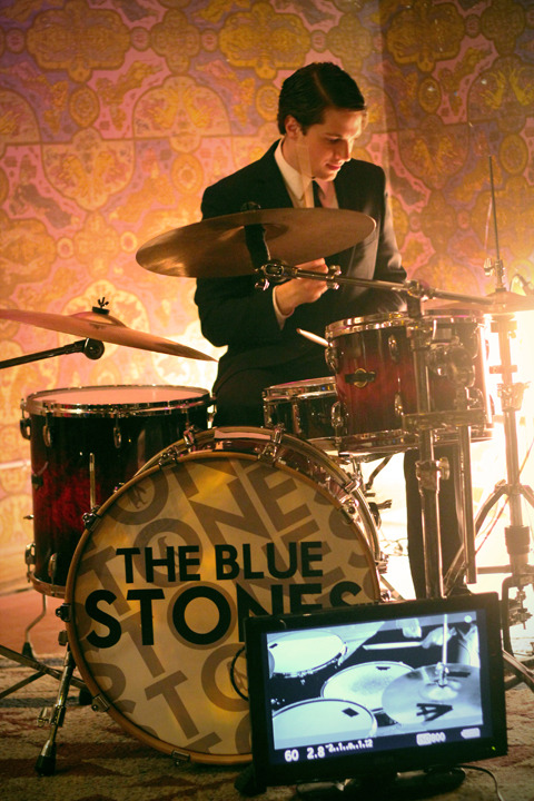 "This photo was taking on the music video set of The Blue Stones for their hit ""Vain Vixens""  It was taken on a Canon t2i using a 50 mm 1.8/f lens.  The f stop was at 2.5/f and the shutter was 1/125.  This was one of my favourite shoots. It was a 50's themed shoot taking place in Villians! If you havn't gone there then you defiantly should.  Check out their music video here:  http://youtu.be/iIZEG5NSJY4"