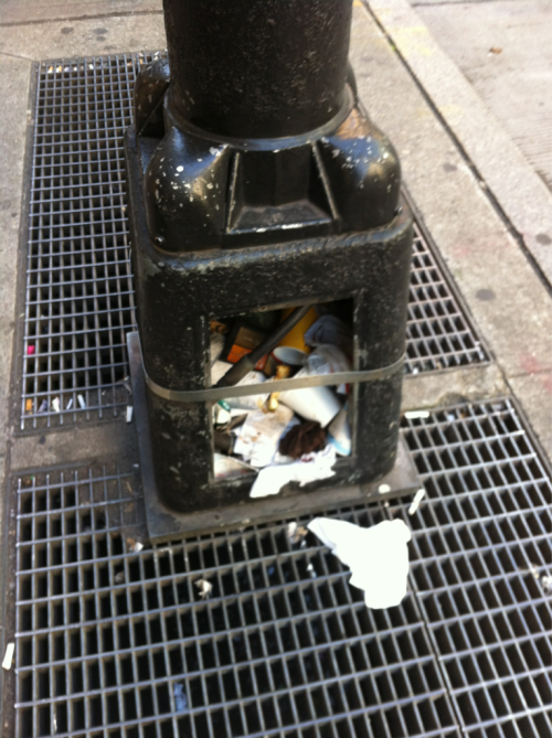 Urban Trashcan.  Midtown East, New York City.
