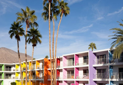 A rainbow hotel. The Saguaro. Imagine…