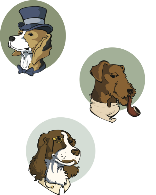 Dapper Dogs Illustrator  2012