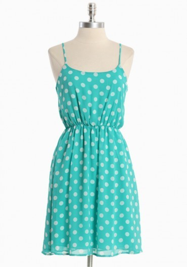 Dress like Rachel Berry: my love polka dot dress $39.99 from Ruche
