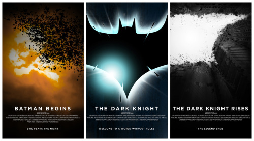 dcplanet:  Batman Nolan Saga Poster by WeaponXIX
