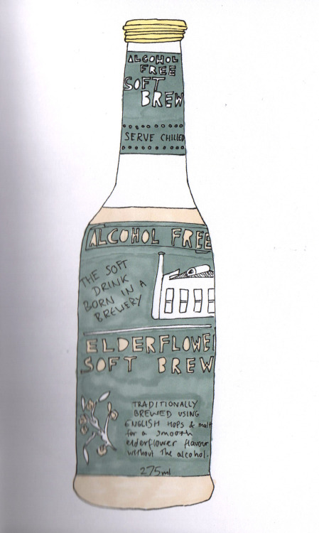 elderflower bottle
