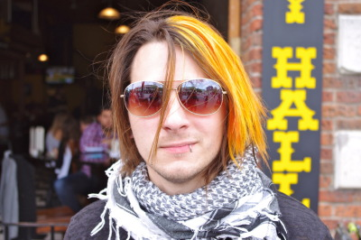 #SXSW Hair - Noah's color caught our attention standing out on the street of Austin. This look can be accomplished with Supercuts' Supercolor service.