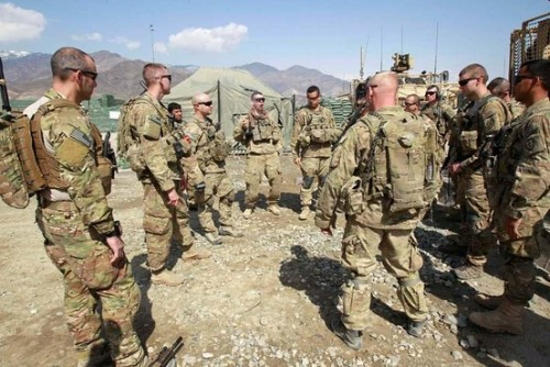 "KABUL—Afghan President Hamid Karzai asked the U.S. to withdraw its troops from Afghan villages and to confine them to bases following a shooting rampage by a U.S. staff sergeant on Sunday, the presidential palace said, in a move that dramatically changes the outlook for the war. The demand, which Mr. Karzai's office said was made during a meeting on Thursday with U.S. Defense Secretary Leon Panetta, would—if accepted—essentially end the U.S. combat role just as the annual Taliban spring offensive begins. There are now some 90,000 U.S. troops in the country. Within minutes of Mr. Karzai's statement, the Taliban also declared they are suspending their negotiations with the U.S. because the U.S. ""turned back on its promises,"" such as the release of Taliban prisoners held at Guantanamo Bay, Cuba. Mr. Karzai's surprise demand was greeted with shock by some Afghan politicians. ""We totally don't understand Karzai's decision. He doesn't have any strategy. He is committing treason,"" said Abdulrahim Aybi, a lawmaker from the southern Kandahar province where Sunday's massacre occurred. The U.S. Embassy in Kabul could not be reached for comment. A spokesman for the U.S.-led coalition, U.S. Navy Lt. Cmdr. Brian Badura, said the coalition was aware of Mr. Karzai's request, and that it would be dealt with through diplomatic channels. While the Taliban left the door open to resuming the dialogue, Mr. Karzai's move had potentially more far-reaching ramifications. ""Not a single foreign soldier should enter Afghan homes, and the entire attention should switch to the country's reconstruction and economic assistance,"" the Afghan president's statement said. Under current plans, the U.S. and its allies are supposed to withdraw most combat forces by the end of 2014, transferring security responsibilities to the Afghan army and police. Mr. Karzai said on Thursday that ""Afghanistan is right now ready to completely take all security responsibilities, so we demand a speedy transition and the hand-over of responsibility to the Afghans."" Some analysts speculated that Mr. Karzai made the statement as a bet to strengthen his hand in negotiations with the U.S. over a strategic partnership agreement. If so, he may have badly miscalculated, said Candace Rondeaux, a Kabul-based senior analyst at the International Crisis Group think tank. ""Karzai in some ways has overestimated his hand,"" she said. ""There is extreme frustration on both sides and the trust deficit will only widen as the result."" FULL ARTICLE (Wall Street Journal)"