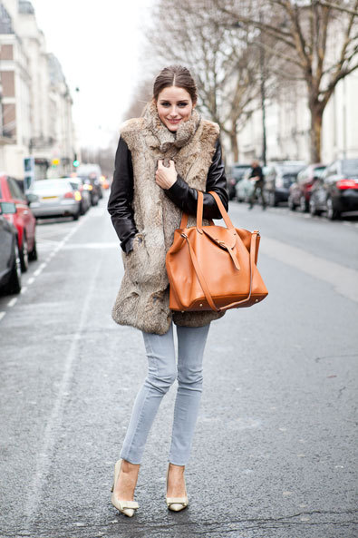 How cozy & chic does Olivia Palermo look here?