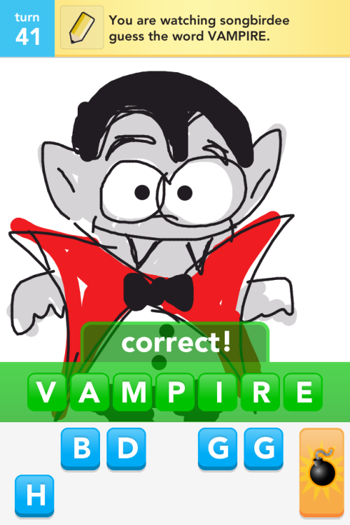 I drew the cutest vampire.