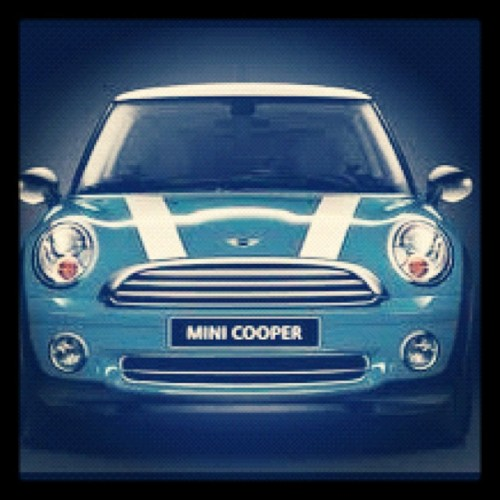 #marchphotoaday Day 15 - My #car. Sgt Pepper has personality #minicooper in Oxygen Blue   (Taken with instagram)