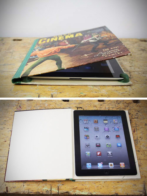 Make an iPad or eReader case from a recycled book via Man Made DIY