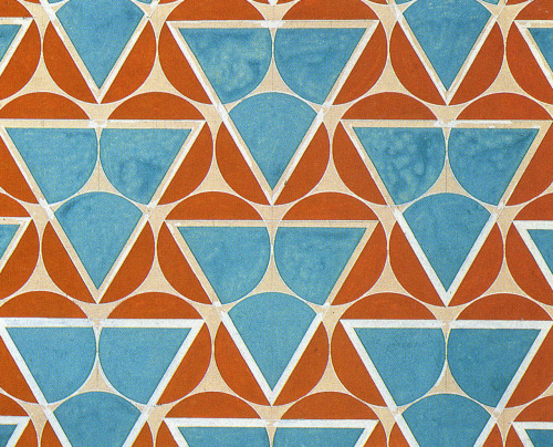 grupaok:  Varvara Stepanova, Circle Points—Teal and Orange, 1923: textile pattern for mass production