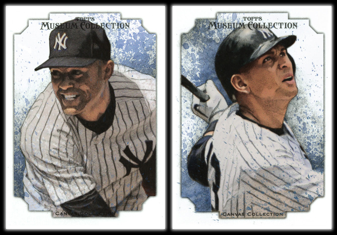 Mariano Rivera & Alex Rodriguez for Topps Museum CollectionOriginal art: 2.5 x 3.5 inches