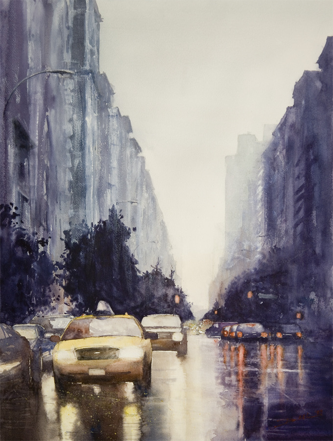 pulmonaire:  Side of Rain, New York