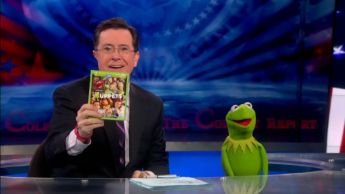 Stephen Colbert and Kermit the Frog