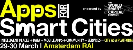 Heading to Apps for Smart Cities in Amsterdam next week!  Very excited! It is bit of a research mission as I know little about the topic. There seems to be a good mix of speakers. You can read more here.
