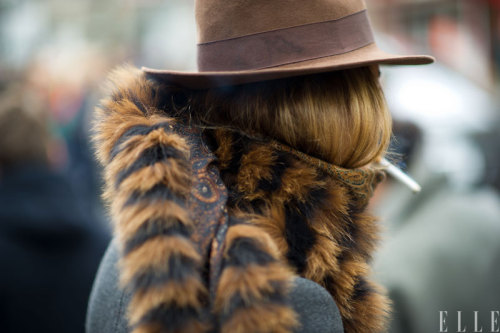 elle:  Street Chic: New York Seasonal trims Photo: Adam Katz Sinding/Le 21ème Arrondissement