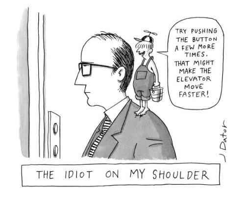 newyorker:  A 2008 Joe Dator cartoon. Have you ever had a question you've wanted to ask a New Yorker cartoonist? Joe is currently on The New Yorker Cartoons Facebook page answering questions about cartooning!