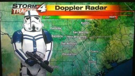 These aren't the thunder storms we are looking for.  Darth Vader
