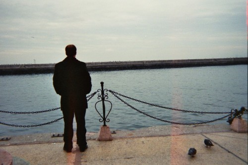 Man in Istanbul, waiting for the boat to go to the Europe side.