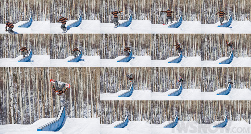 My sequence of a cab 180 to backflip out. Photos by Darcy Bacha.