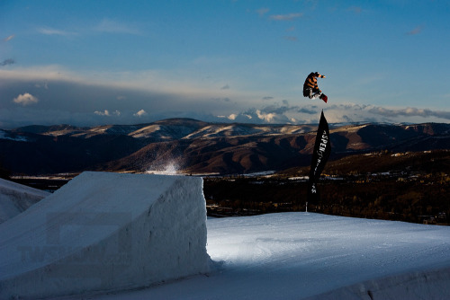 Here's a method I did during our only sunset shoot for the TWSnow Park Sessions at Buttermilk in Aspen. The other shots of Tyler Flanagan and Alex Rodway that afternoon turned out sick - I can't wait to see theirs in print! Photos by Darcy Bacha.