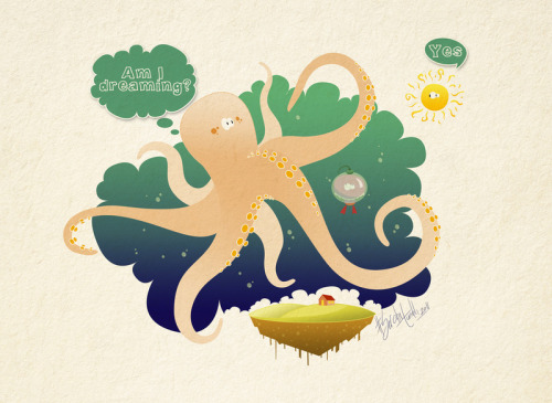 Dreaming Octopus by Sercantunali