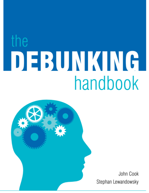 theperplexedobserver:  The Debunking Handbook: now freely available for download The Debunking Handbook, a guide to debunking misinformation, is now freely available to download. Although there is a great deal of psychological research on misinformation, there's no summary of the literature that offers practical guidelines on the most effective ways of reducing the influence of myths. The Debunking Handbook boils the research down into a short, simple summary, intended as a guide for communicators in all areas (not just climate) who encounter misinformation.
