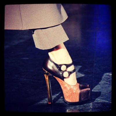 #LouisVuitton #FW 12 #platform #heels #paris #fashionweek #Photo by #Style dotcom (Taken with Instagram at Paris, France)