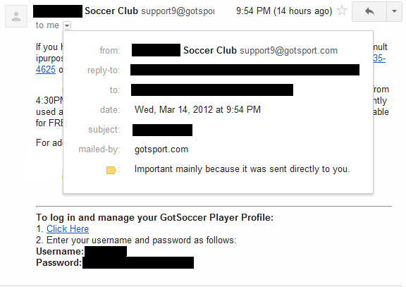 plaintextoffenders:gotsoccer.com gotsport.comSite soccer clubs pay to handle player registration and scheduling for them.