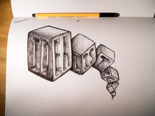 'Idealistic' typography sketchbook