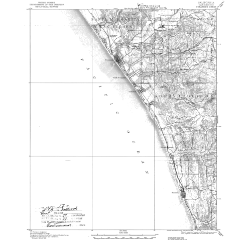 Map Monday! This is a topographic map of Southern California, held in the permanent collections here at the National Archives at Riverside.
