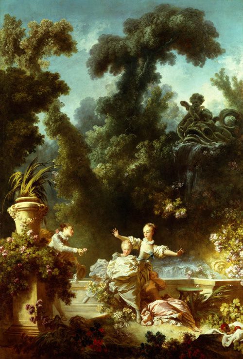 [The Progress of Love] The Pursuit, 1773, Jean-Honore Fragonard You know, back then, this was considered romantic. But today this would be considered stalking and that guy will probably get a restraining order or arrested from pursuing that girl. Anyway, speaking of Fragonard… The Fragonard Room is a personal favorite at The Frick Collection. The highlight of the room are the panels by Fragonard, but the room is also furnished with tables, chairs and other decorative objects from the 18th century.  [Frick Conservation] Whenever I go to The Frick, which is often (perk of being a member), I head straight to this room and just linger and admire the beautiful panels. It's a place where I can be alone with my thoughts, in solitude, and just daydream that I am an aristocrat and that this room is where I read books and listen to Bach. Remember that Twilight Zone episode starring Robert Duvall, where his character keeps going to a museum to see the dollhouse, which comes alive when he's there, and eventually in the end, he ended up in the dollhouse?  Often times I wish this would happen to me where I become part of one of the panels, if not the room. More of The Progress of Love here, here, not here, but also here.