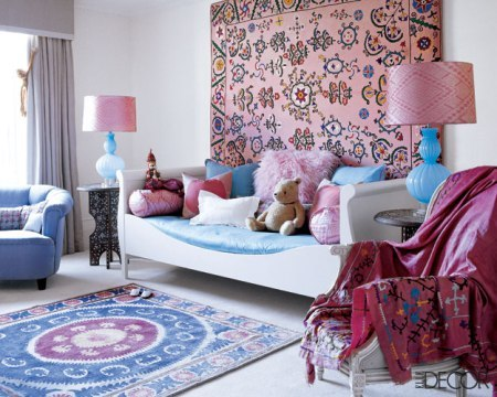 My Bohemian Home ~ Living Rooms  This is lovely. (And I just love that they have a Classic Pooh Bear on the couch!)