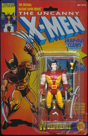 Wolverine Toy Line:  X-Men Series 1 (1991) Did I own it?  Yes My very first X-Men action figure was this sweet Wolverine toy from Toy Biz's X-Men line.  This toy came with a removable mask and a katana sword (?) and had retractable plastic claws.  Overall solid toy which opened the door for me to get more Toy Biz X-Men action figures
