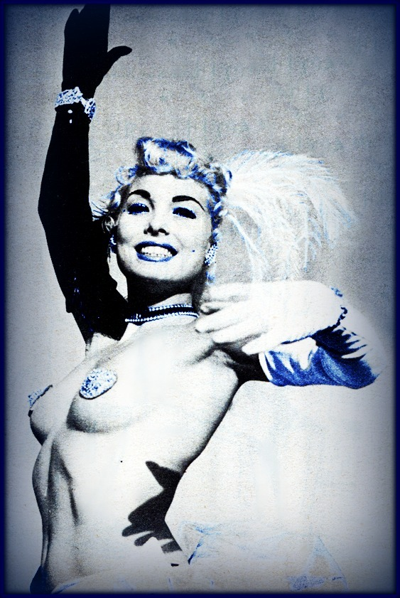 Lee Sharon  Burlesque Dancer Gee Whiz magazine 1959