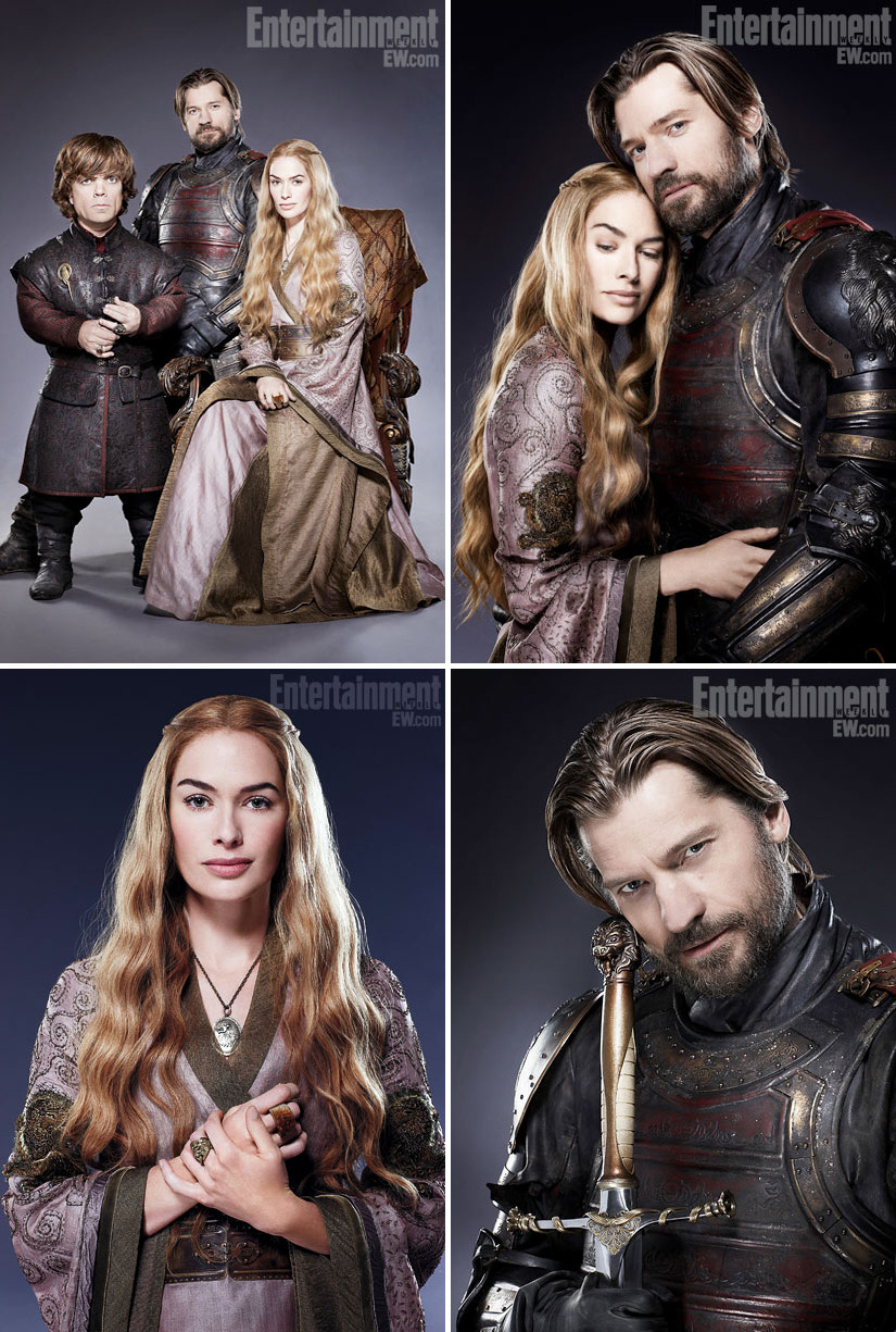 Lena Headey, Peter Dinklage & Nikolaj Coster-Waldau - Entertainment Weekly by Ian Derry, March 23rd 2012 Lannisterses!