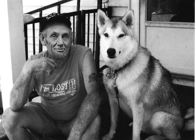 "smellslikemegan:  Abraham Lincoln and his Husky.  This is image is one in a series being produced by Tumblr user smellslikemegan. ""I've always wanted to see how presidents would look modernized,"" she says, ""so I'm making it happen."" The results are fascinating. Posted to date: George Washington and Benjamin Franklin (not a president) h/t to Braiker for finding this."