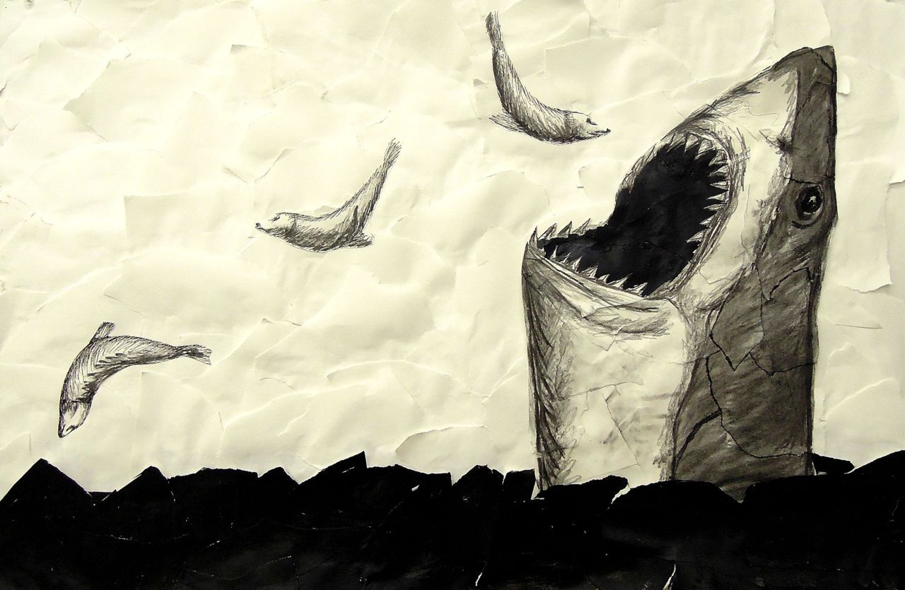 Shark Eating SealsMixed Media2012