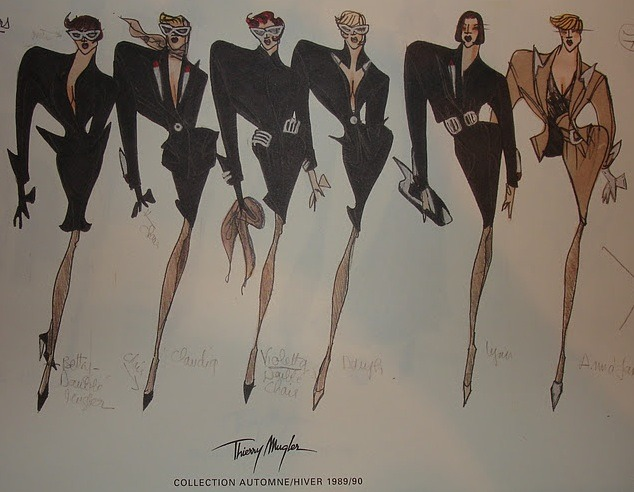 monsieur-j:  Thierry Mugler F/W 1989/90 Sketches